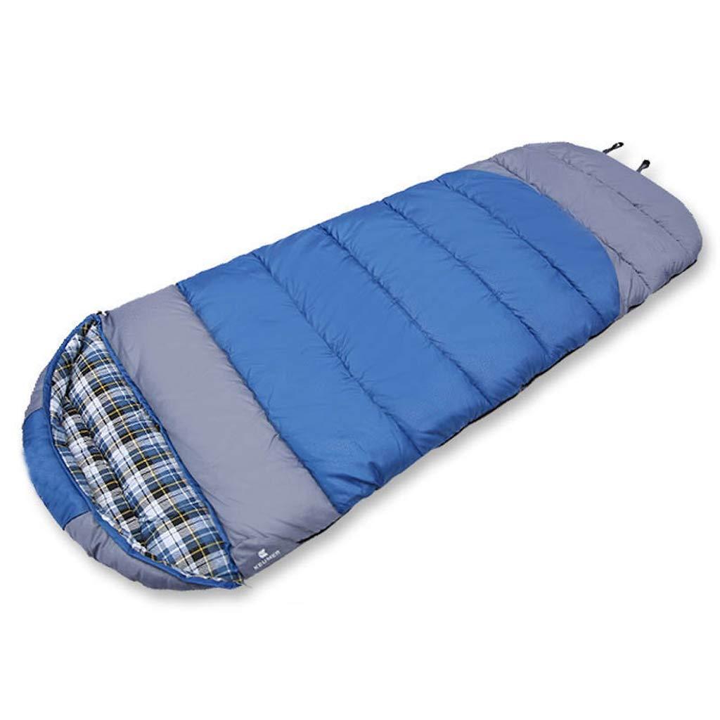 AX-outdoor products Einzelner Schlafsack Umschlag Reiseschlafsack geeignet für den Einsatz bei 0 ° C Baumwollfüllung Dunkelblaue Farbe 220  80 cm 2300 g