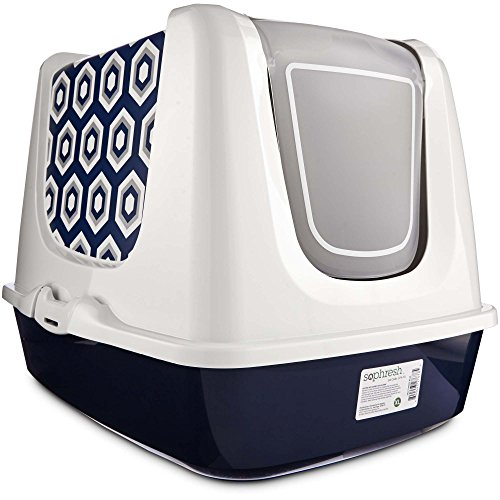 So Phresh Navy Cat Litter Box Privacy Hood, X-Large, Green