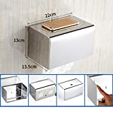 Q&F Toilet Paper Holder, Tissue Roll Hanger -wall Mount,Waterproof,Moisture Proof,Anti-rust,Stainless Steel-H
