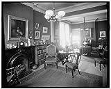 Photo: Interior,121 Henry Street sitting room,fireplace,grate,Detroit,Michigan,MI,1900