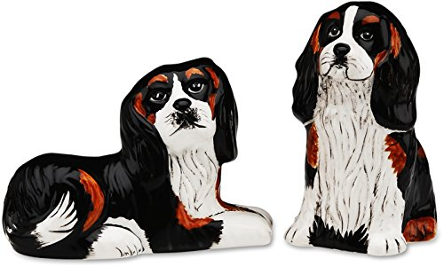Rescue Me Now Cavalier Dog Salt and Pepper Shaker Set by Rescue Me Now