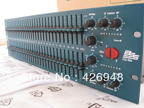 Ochoos New FCS 966 Two Channel Graphic Equalizer,30 Constant Q Frequency Bands BSS Audio Opal FCS-966 Graphic Equalizer
