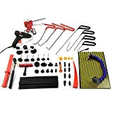 Wcaro PDR Rod Auto Body Dent Puller Pdr Tools - Paintless Dent Repair Tools Car Body Dent Remover Tools Dent Removal Dent Repair Kit with LED Line Board