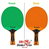 Double Fish Rubber And Plastics Integrated Waterproof Ping Pong Paddle, Table Tennis Racket (D-3)