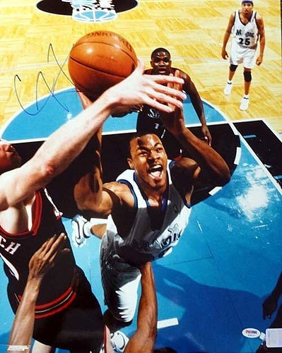 Corey Maggette Signed 16 x 20 Photograph Orlando Magic - Certified Genuine Autograph By PSA/DNA - Autographed Photo