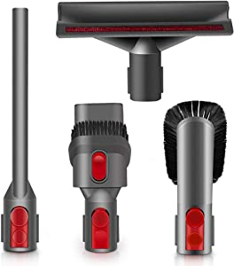 E.LUO Brush Attachment Kit for Dyson V8 V7 V10 V11,Vacuum Cleaner Accessories Including Mattress Cleaner,Combination Tool,Crevice Tool,Soft Dusting Brush.