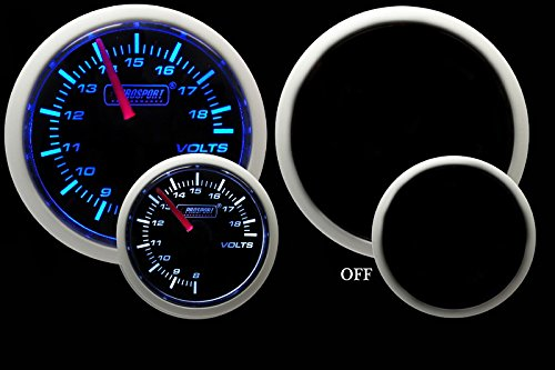 Volt Gauge- Electrical Blue/white Performance Series 52mm (2 1/16'')