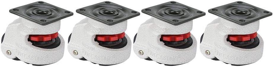 Schwenkr/äder 4pcs 1.5Retractable Leveling Caster Industriemaschine Schwenkrolle 330lbs Kapazit/ät
