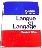 Langue et Langage, Oreste F. Pucciani and Jacqueline Hamel, 0030892422