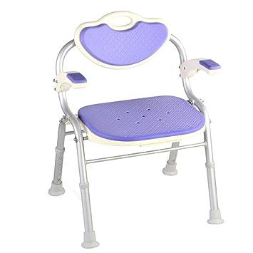 Bath chair Silla de Baño Silla de Ducha Plegable de Aleación ...