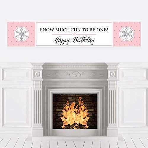 (Pink ONEderland - Holiday Snowflake Winter Wonderland Birthday Party Decorations Party)
