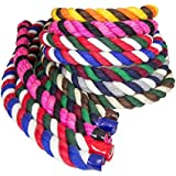 FMS Natural Colored Cotton Rope - Super Soft Triple-Strand Twisted 1/2 Inch, 1/4 Inch, 3/4 Inch & 1 Inch Rope by the Foot in Custom Colors for Bird Toys, Pet Toys, Macramé, Arts, Crafts, Décor & More