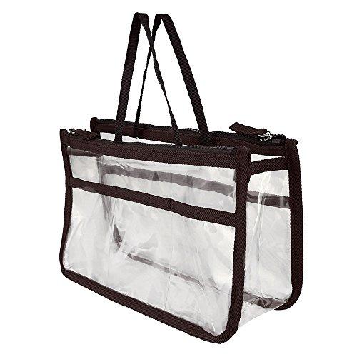 Fan-Ling 1Pc Waterproof Multifunction Makeup Bag,Rectangular Portable Makeup Clutch Bag For Women Girl (C)