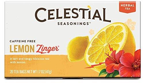 Celestial Seasonings Lemon Tea - Celestial Seasonings Herbal Tea, Lemon Zinger, 20 Count (Pack of 3)