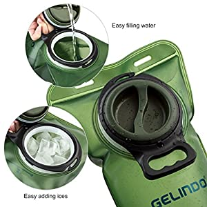 Gelindo Hydration Bladder 3 Liter Leakproof Water Reservoir, FDA Approved and BPA-Free Hydration Backpack Replacement, Large Opening and Quick Release Insulated Tube With Shutoff Valve