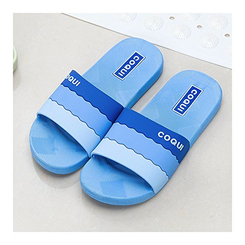 Foams Sandales de antidérapantes de Soft 39 bain Chaussures clair Bleu de douche Chaussures Clair piscine Chaussures salle Pantoufles d'eau de Mule de salle Sole House Bleu bain Mule 38 antidérapantes Chaussures de Zzqxdw