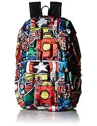 Madpax Marvel Spiderman Comic Strip Backpack, Multi/Red