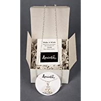 Remember Making a Wish on a Dandelion ? Seed Wishes in Hand Blown Glass Pendant and Necklace Set with gift box. Best Friends Daughters Sisters Military Brats Moms and Grandmas