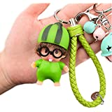 METIS Creative fashion cartoon silicone key ring bag hang with a cute bell(Rabbit、Bee、Watermelon、Panda) (Watermelon)