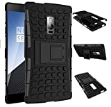DMG Rubberized Hard Back Kickstand Case for One Plus Two (Black)