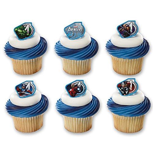 DecoPac Marvel's Avengers Warriors Cupcake Rings (12 Count)
