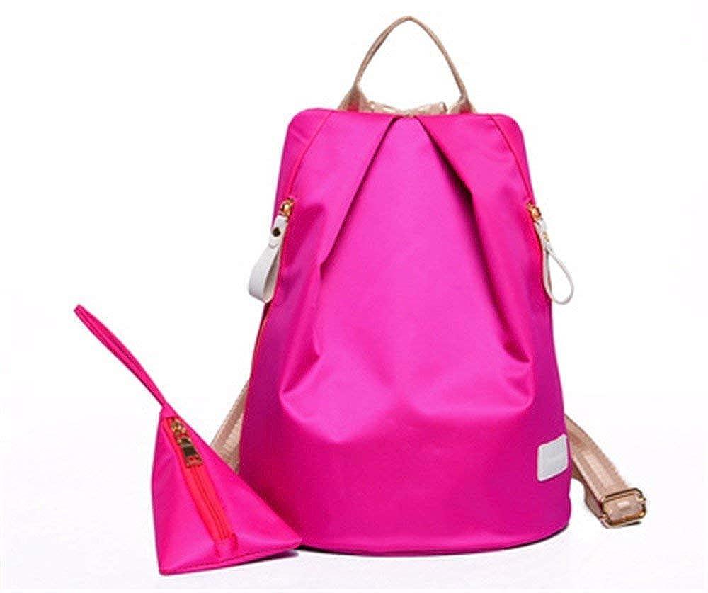 HX fashion サブマザーパックスタイリッシュなナイロン防水女性パックショルダー斜めの断面の女性のバッグ35 * 26 * 18 Cm B07R2MCCLT Rosa One Size