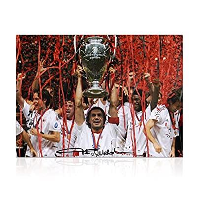 Paolo Maldini Signed AC Milan Soccer Photo: Champions League Winner