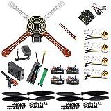 QWinOut F450 DIY RC Quadcopter 4 axle Drone ARF Kit No TX RX : KK V2.3 Flight Control A2212 1000KV Motor 30A ESC Lipo 450mm Flamewheel