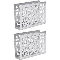 YARNOW 2 Pcs Stainless Steel Napkin Holder Freestanding Tissue Dispenser Cocktail Napkin Organiser Rack for Kitchen…