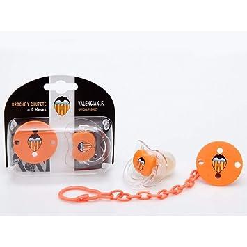 Productos Oficiales - Chupete y broche cadenita valencia cf: Amazon.es: Bebé