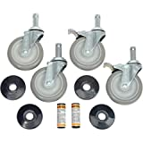 Nexel Industries CA5SBS 5 in. Stem Caster with Donut Bumper & Brakes - Set of 4