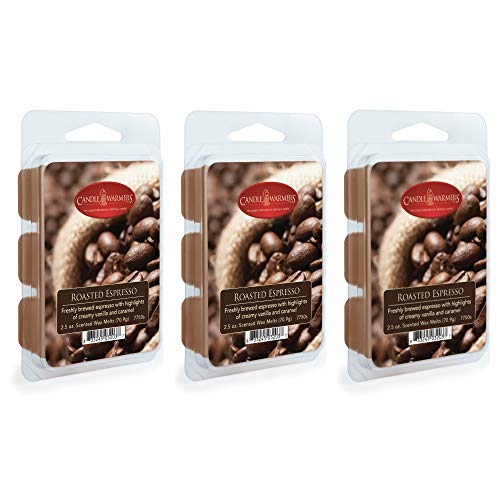 CANDLE WARMERS ETC. 2.5 oz Wax Melt 3-Pack, Roasted Espresso