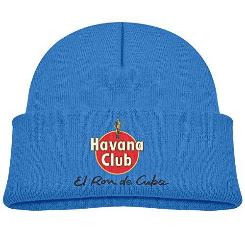MUPTQWIU Havana Club Children's Beanie Hat Cap Cuffed Knit Beanie Hat Blue