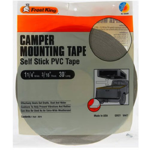 (Frost King Not Available V447H Camper Mounting Tape 1-1/4-Inch by 3/16-Inch by 30-Feet, Grey, Grays )