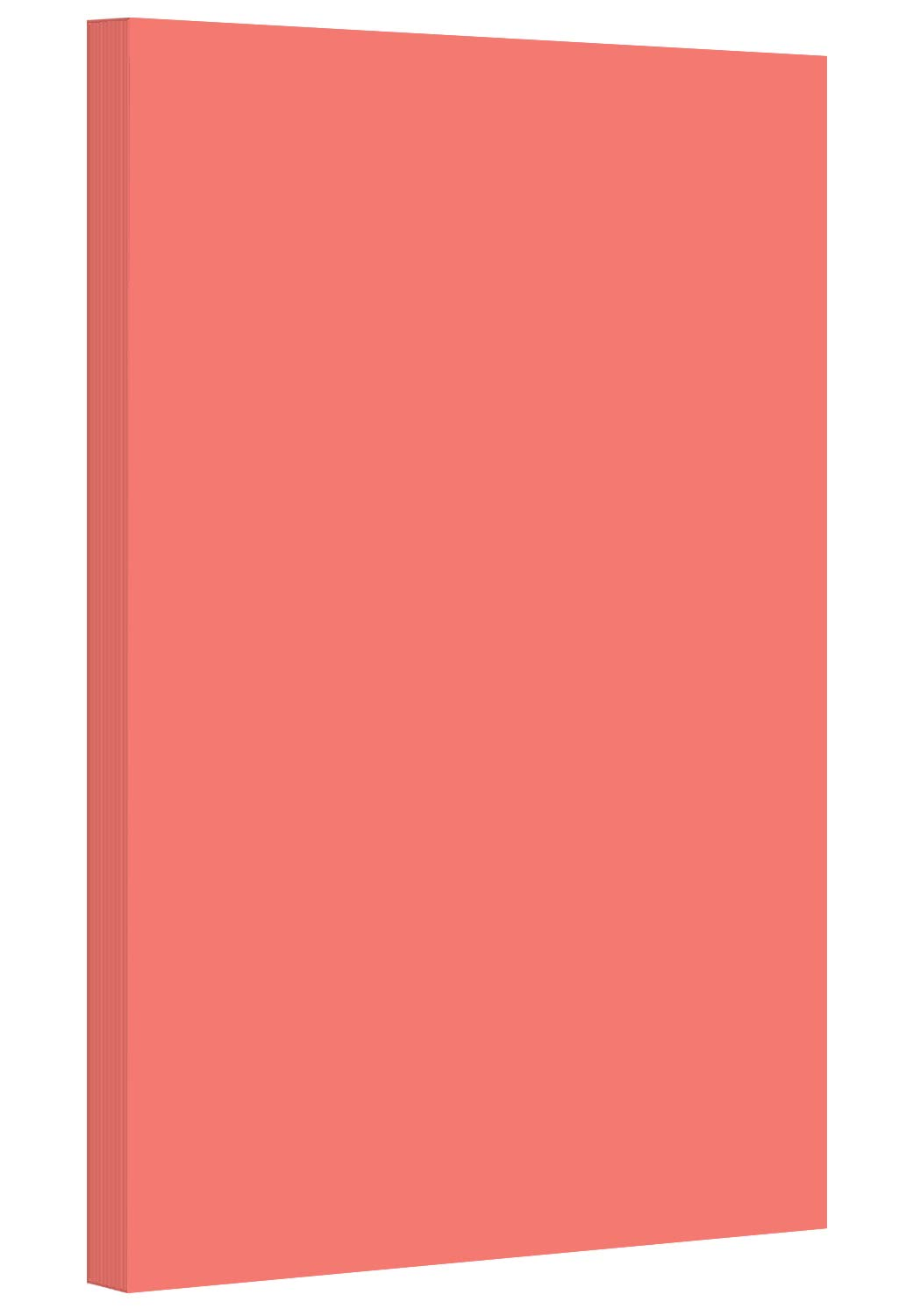 Salmon - Pastel Color Paper 20lb. Size 8.5 X 14 Legal/Menu Size - 500 Per Pack by S Superfine Printing