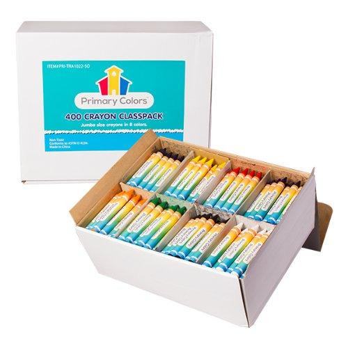 Kindergarten to 1 Grade Primary Colors PRI-TRA1022-SO Jumbo Size Crayon