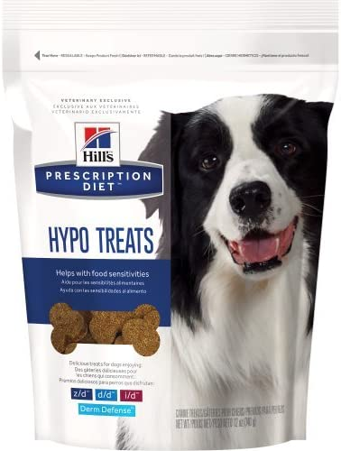 Hill S Pet Nutrition 2 Piece Prescription Diet Hypoallergenic Dog Treats Bag, 12 Oz.