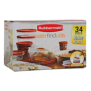 Rubbermaid Easy to Find 34 Piece Storage Containers Set