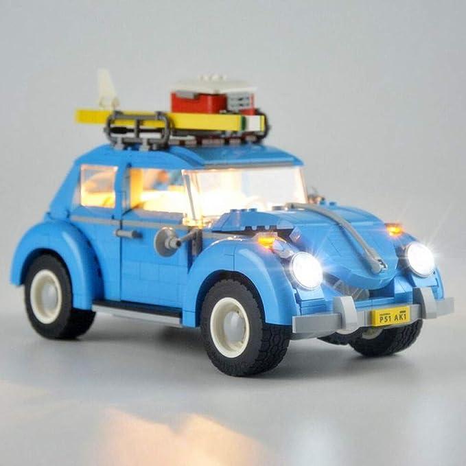 Edcaa Led Beleuchtungsset Für Volkswagen Beetle Building Bausteine Modell Beleuchtungsset Kompatibel Mit Lego 10252 Car Bricks Set Nicht Enthalten Spielzeug