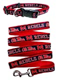 Mississippi Ole Miss Nylon Collar and Matching Leash for Pets (NCAA Official by Pets First) Size Small