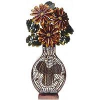 DecoBREEZE Table Fan Two-Speed Electric Circulating Fan, Flower Bouquet Figurine Fan