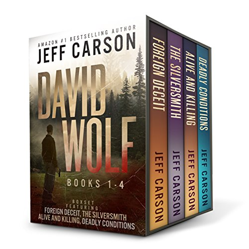 The David Wolf Mystery Thriller Series Books 1-4 by Amazon #1 bestselling author Jeff Carson have brought readers across the globe and back again to the high country of Colorado, leaving them breathless and desperate for more. If you love thriller my...