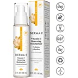 DERMA E Vitamin C Renewing Moisturizer with Probiotics and Rooibos, 2 Fl Oz