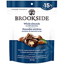 BROOKSIDE Christmas Milk Chocolate, Whole Almonds, Stocking Stuffer, 210 Gram