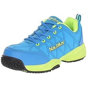 Nautilus 2154 Women's Comp Toe Light Weight Slip Resistant Safety Toe Athletic Shoe, Blue, 9.5 W US