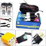 2-Headlight H4 Headlamp Light Bulb Ceramic Socket Plugs Relay Wiring Harness Kit …