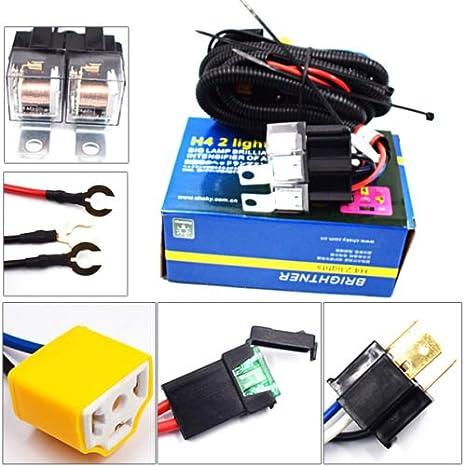 51c2Km MPTL._SX466_ 2 headlight h4 headlamp light bulb ceramic socket plugs relay wiring