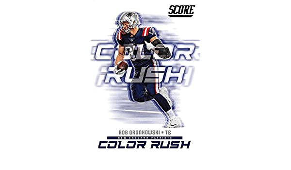 low priced 926da 7bda6 Amazon.com: Rob Gronkowski 2018 Score Color Rush #16 ...