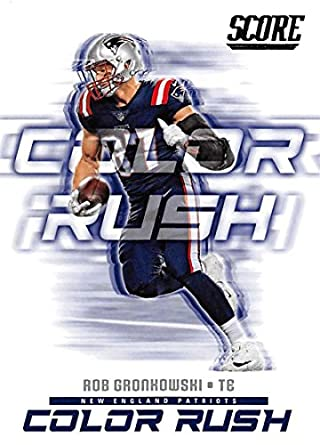 2018 Score Color Rush  16 Rob Gronkowski New England Patriots Football Card 89fb13378