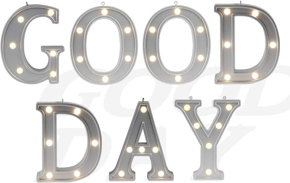 Decorative Illuminated Mood Marquee Word Sign Light (Silver Color 4.21
